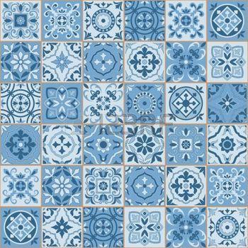 azulejo: Superbe seamless couleur blanche Sereniti marocaine, azulejos portugais, Azulejo, ornements. Peut être utilisé pour le papier peint, motifs de remplissage, fond de page web, des textures de surface.