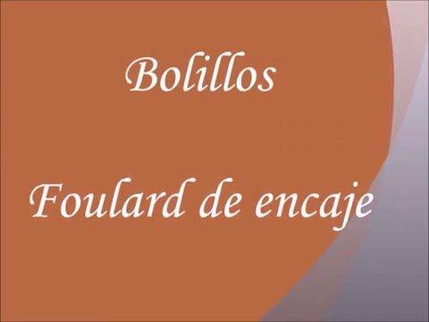Bolillos: Como hacer un fulard de medio punto - YouTube