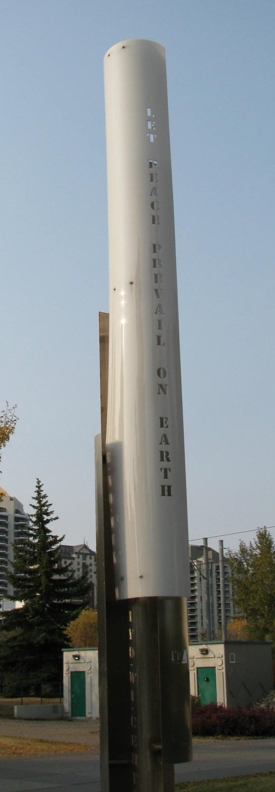 Peace Pole at Prince's Island