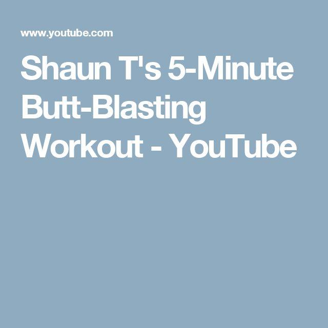 Shaun T's 5-Minute Butt-Blasting Workout - YouTube