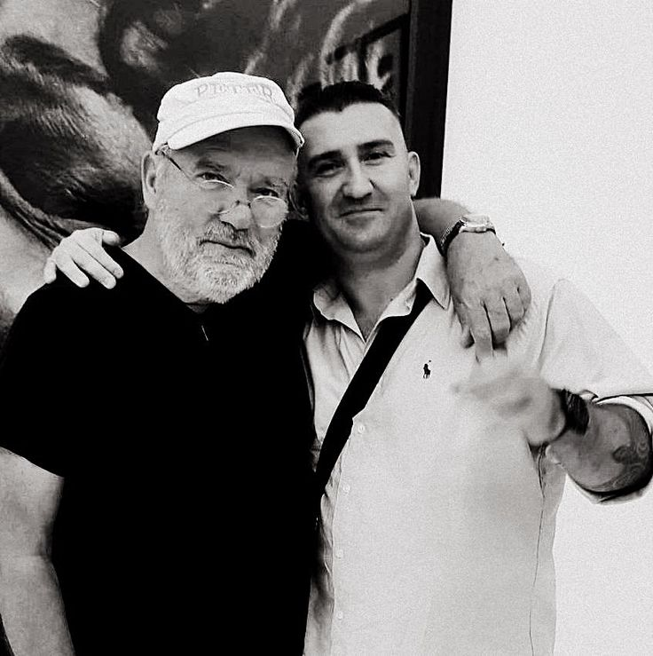 With Peter Lindbergh