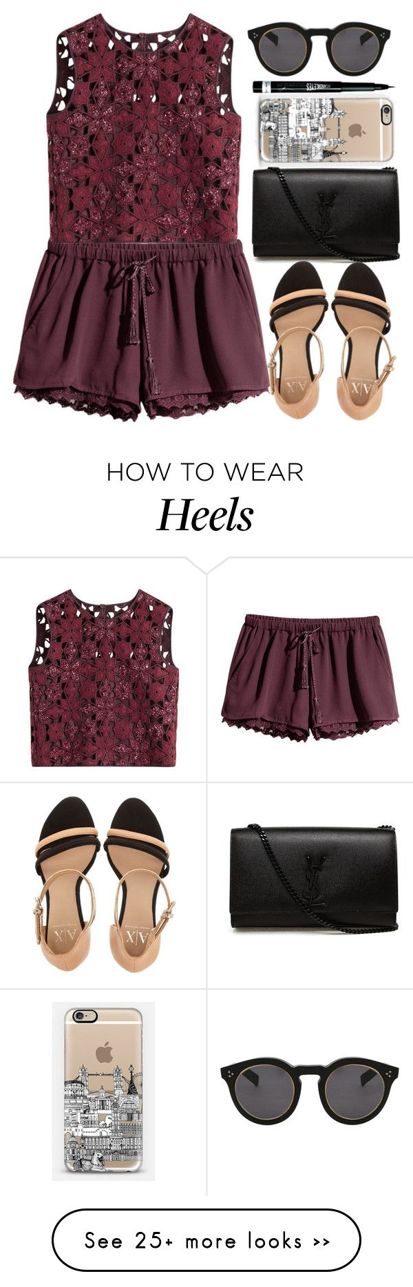 """WWSD"" by krizan on Polyvore featuring H&M, Alberta Ferretti, Yves Saint Laurent, Illesteva, Armani Exchange, Casetify and Rimmel"