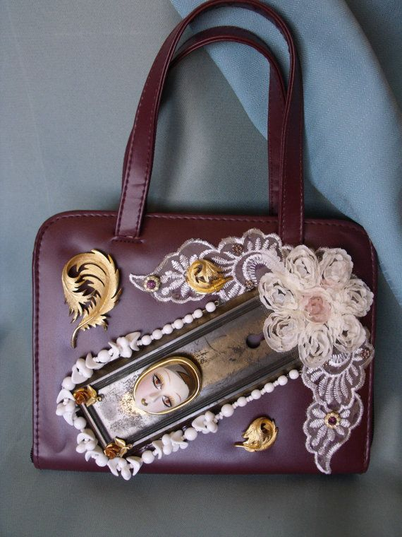 Burgundy Day Organiser tote by IfPiratesWorePurses on Etsy.