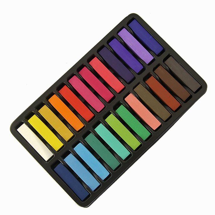 JEYL Heiße Neue Ungiftig Kreide Temporäre Haarfärbemittel Farbe der Weiche Pastelle Salon Set Kit (24 STÜCKE)