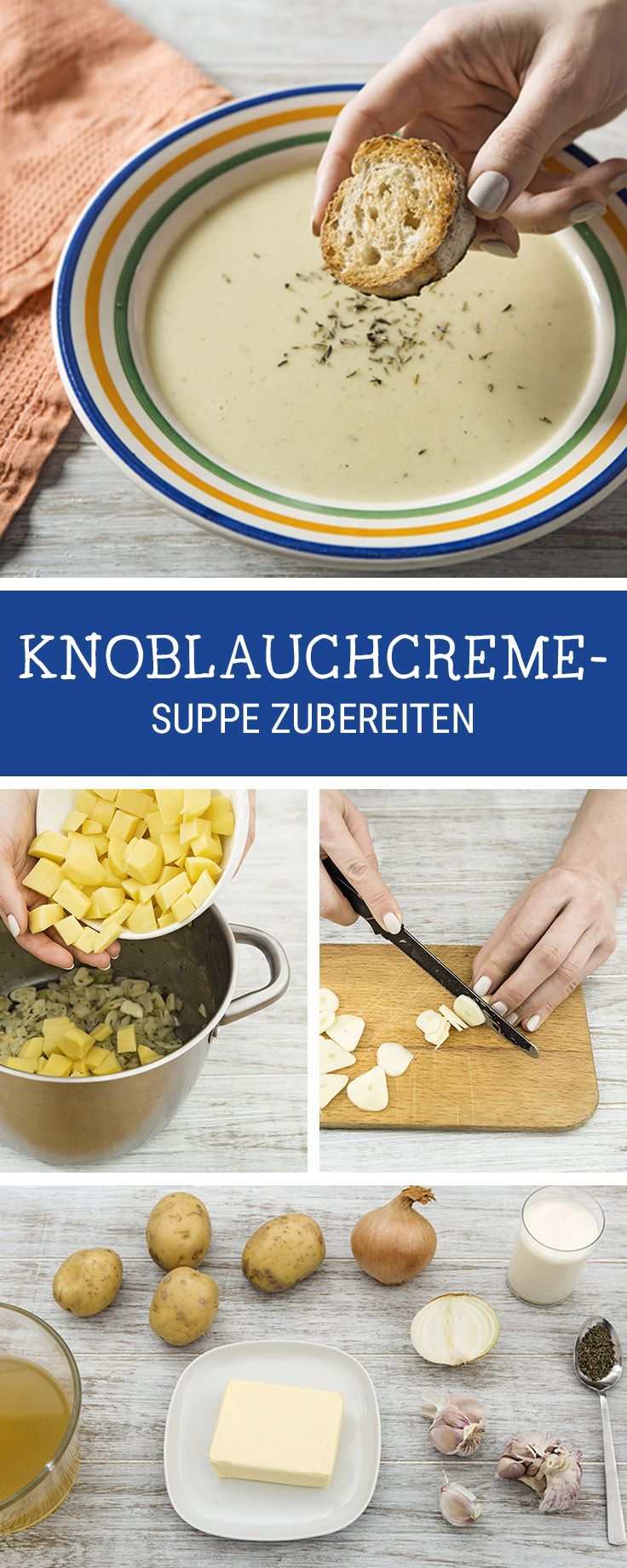 Herzhafte Suppe mit Knoblauch kochen / savory garlic soup for the fall season via DaWanda.com