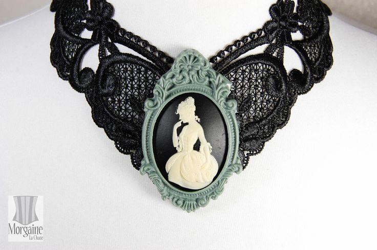 Spitzen cameo Halsband Choker Rokoko Lady von Shop für Kleider, Korsetts, Blusen, Shirts, Federschmuck und Accessoires auf DaWanda.com