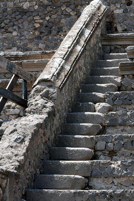 Stairway in the Little Theatre -- Pompeii by cormack_nette, via Flickr