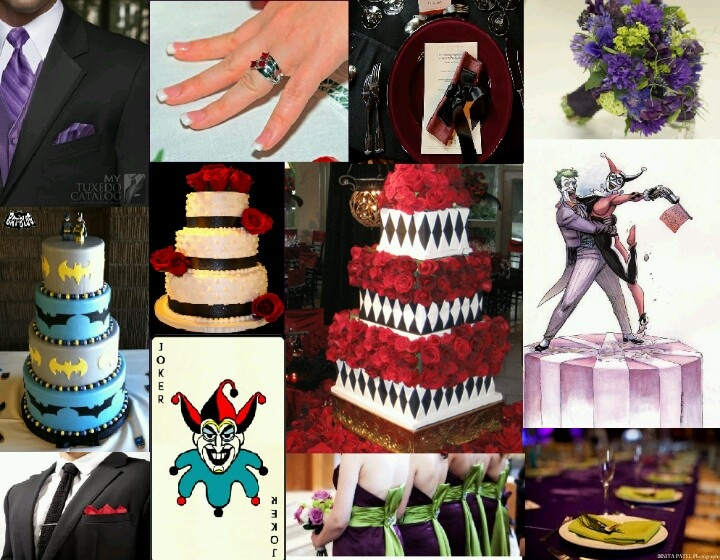 Joker and Harley wedding theme