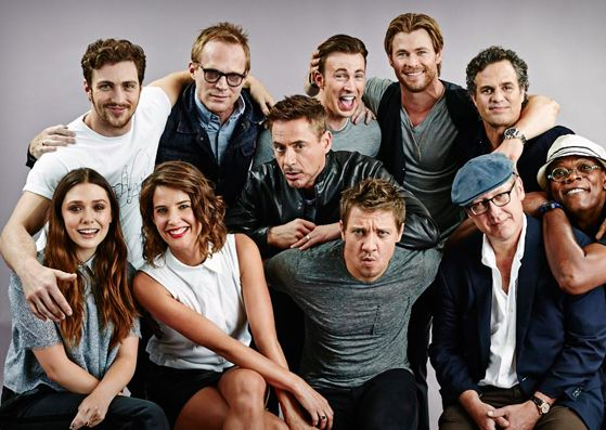 The cast of Avengers: Age of Ultron.