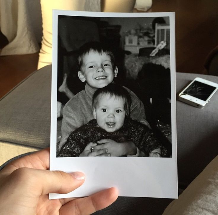 Old photo of me and my sister