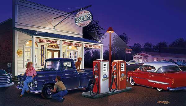 Paintings of 1950s Cars And Trucks   Bruce Kaiser Car Art ...