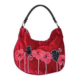 Large enough to hold all of the daily necessities and with Tamsin's new, hand embroidered Poppy design you will be proud as punch to have this one at your side! This contemporary bag also features an internal zip pocket, a cell phone pocket, double zip closing and leather handles and is available in an array of gorgeous colours.