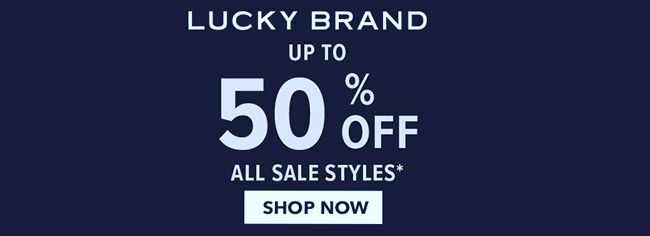 Online Up To 50 Off All Sale Styles Store Luckybrandjeans Scope Entire Store Ends On 01 31 20 Get Mor In 2020 Lucky Brand Lucky Brand Jeans Local Coupons
