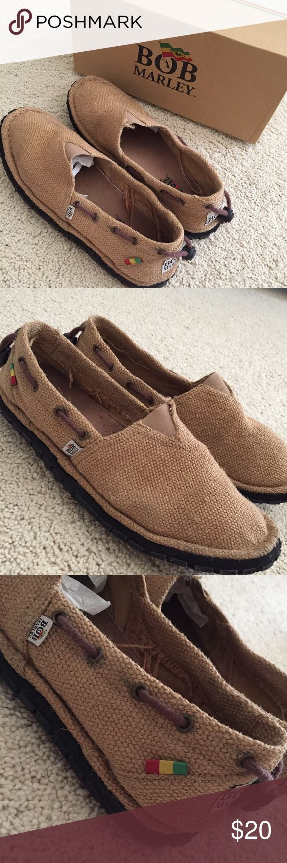Bob Marley // Kingston Hemp canvas loafer sandal Resemble sanuk slip on shoes/sandals. Worn once. Comment any questions below. In excellent condition Shoes Loafers & Slip-Ons