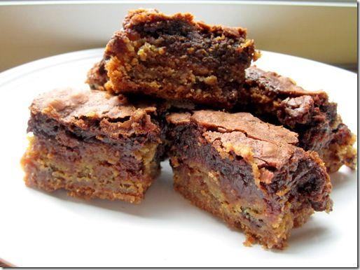 Brownie-cookie-toffee layer bars | Sweet stuff | Pinterest