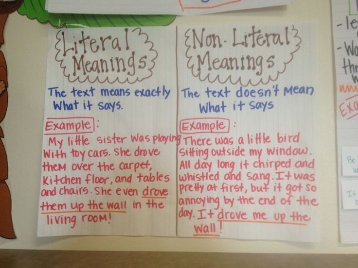 literal vs nonliteral language 3rd grade – Google Search