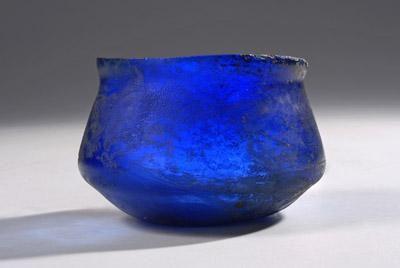 Greek Blue Glass Carinated Bowl | 1st Century BC, 1st Century AD | Price $10,500.00 | Greek | Glass | Vessels | eTiquities by Phoenix Ancient Art