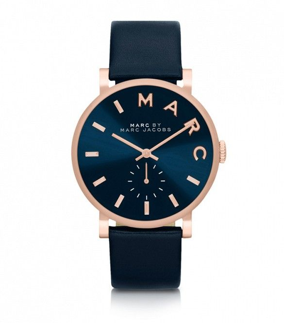 Marc by Marc Jacobs Baker Strap 36mm Navy Blue Women's Watch