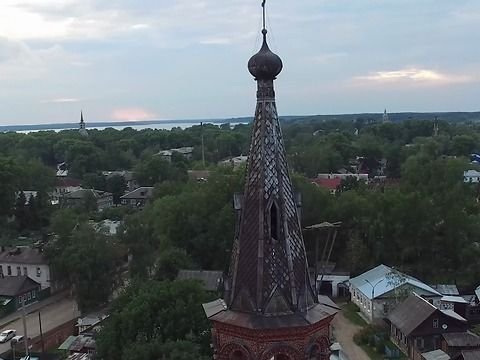 Drone captured russian monastery with some falsework that looks like real-life famous game\movie Assassin's creed synchronization point