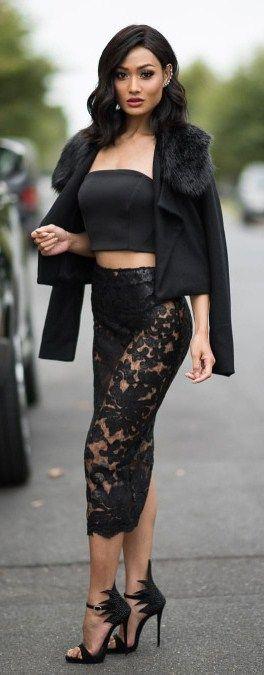 micah gianneli wearing  Jacket & skirt by wantmylook