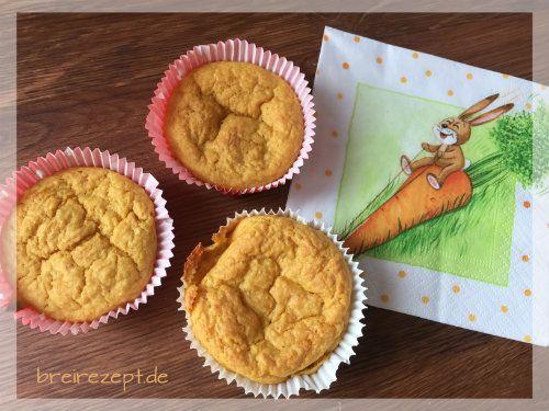Vegane zuckerfreie Möhrenmuffins mit Apfel schmecken wunderbar saftig und eignen sich für das Baby als Zwischenmahlzeit bereits ab dem Beikostbeginn