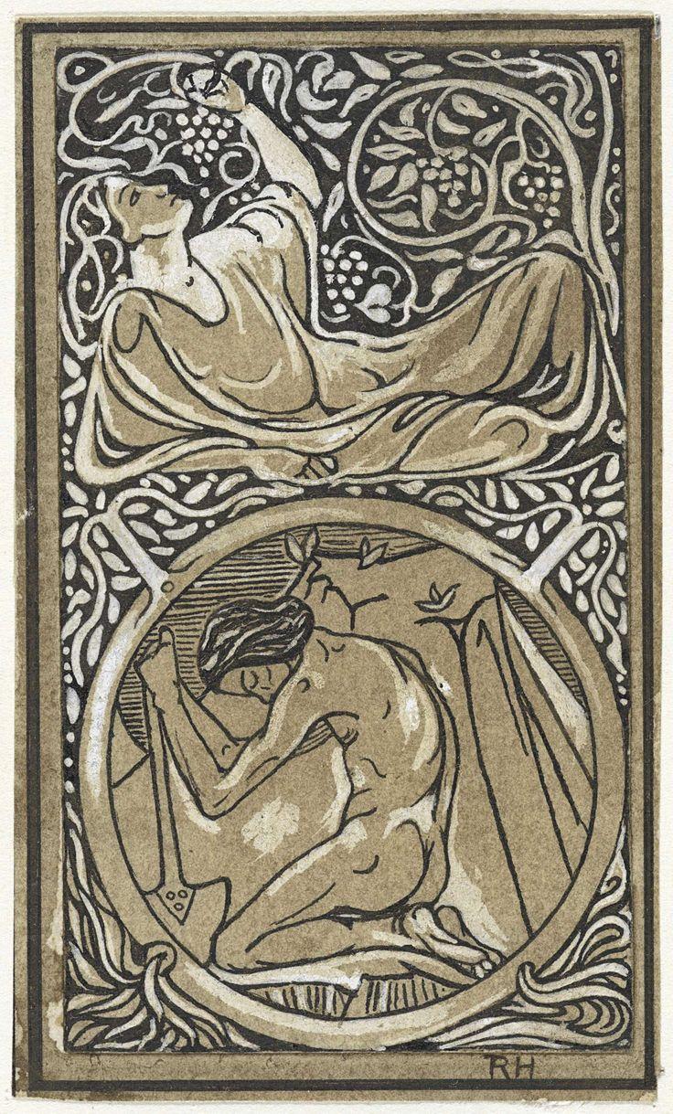 Richard Roland Holst | Ontwerp voor vignet voor catalogus van uitgeverij H.J. Poutsma, Richard Roland Holst, 1878 - 1938 |