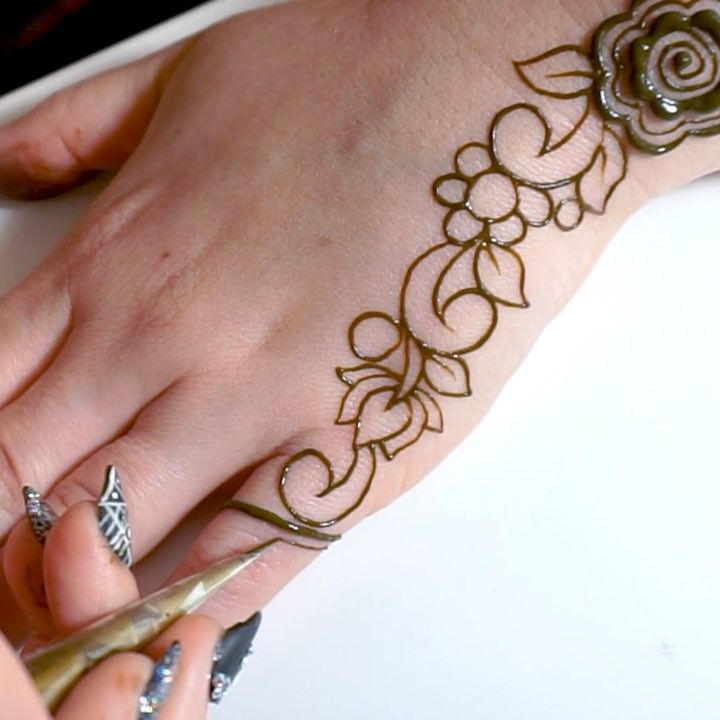 henna designs step by step instructions