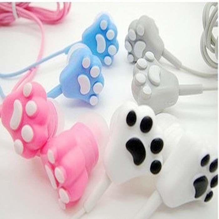 Cute cartoon cat paw headphones