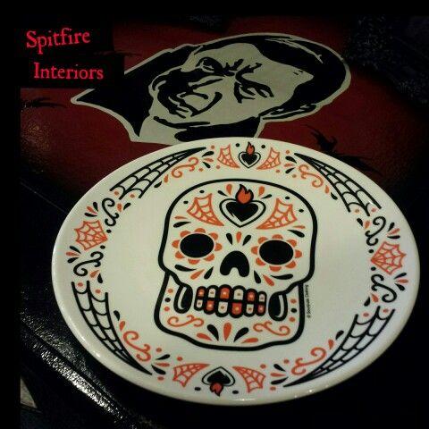 Sugar Skull Ceramic Plates