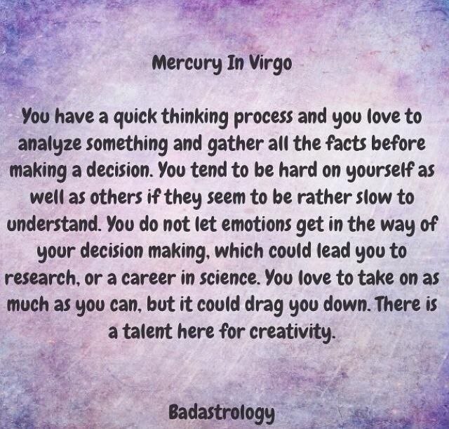 Mercury in Virgo  #Zodiac #Astrology For related posts, please check out my FB page:  https://www.facebook.com/TheZodiacZone