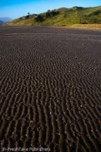 New Zealand Greeting Card: Wave patterns in the sand