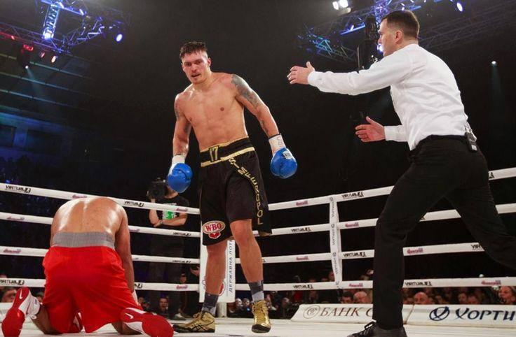 TKO Sieg gegen Pedro Rodriguez Der olympische Goldmedaillengewinner von 2012 im Schwergewicht Oleksandr Usyk verteidigte am Samstag in Kiew seinen WBO Intercontinental