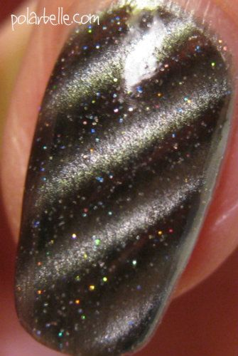 OPI Skyfall Is That Silva? magnetic nail polish swatch - click thru for more information and swatches