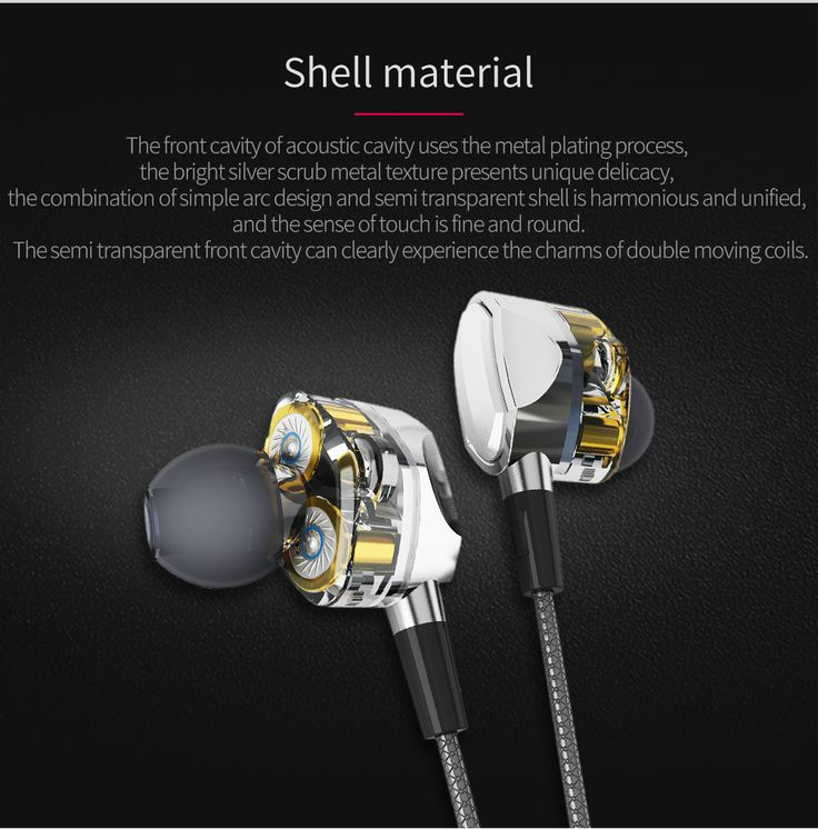 S.Wear G2 In-ear 3.5mm Dual Dynamic Drivers Wired Control Earphone Headphone With Mic