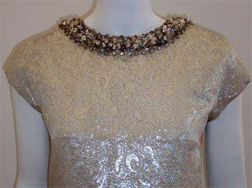 Christian Dior Haute Couture Silver Sequin Gown, Circa 1965 5