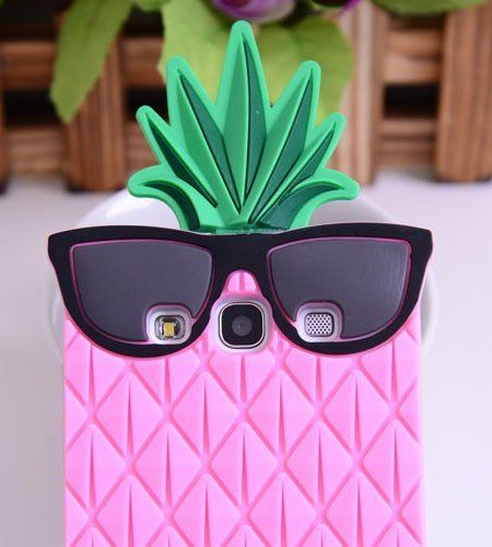 BYG Blue 3D lovely Fruit Ananas Style Soft Case Protective Cover For Samsung Galaxy S3 I9300 + Gift 1pcs Phone Radiation Protection Sticker