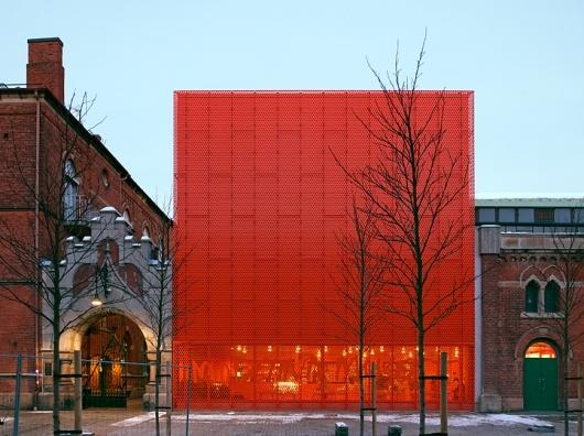 Red facade.