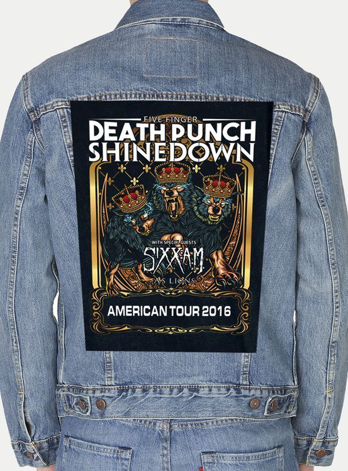 FIVE FINGER DEATH PUNCH SHINEDOWN GIANT BACKPATCH #Unbranded