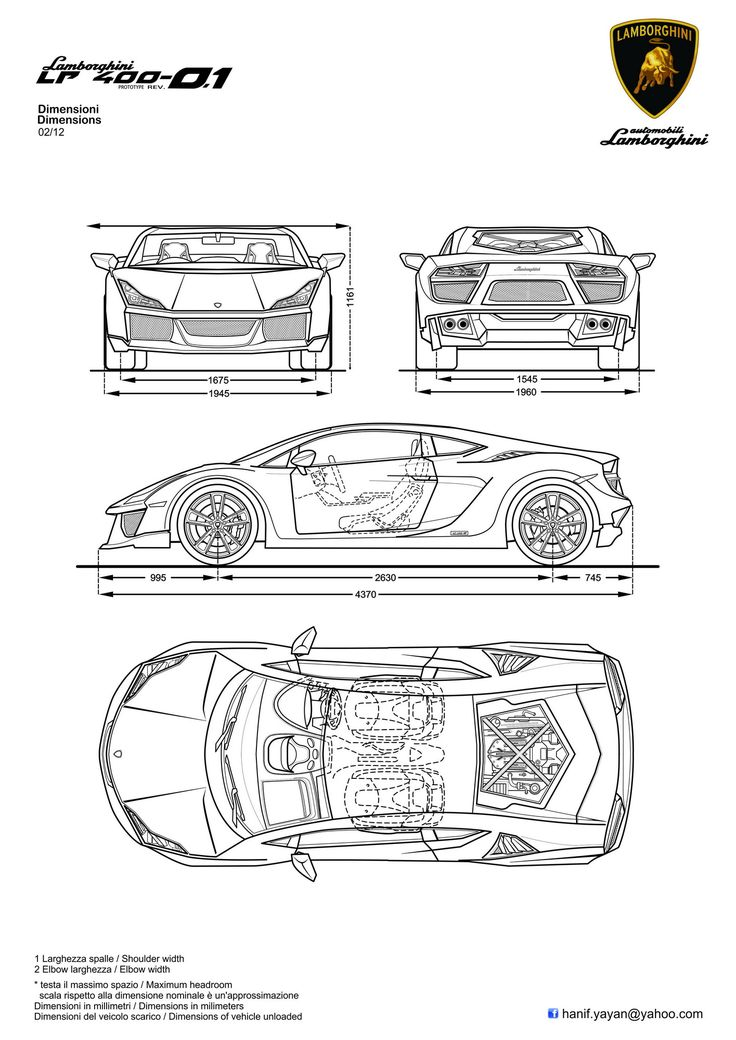 16 best BLUEPRINTS - CONCEPT CARS images on Pinterest | Cars ...