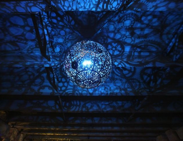Ballroom Luminoso Made Of Recycled Bike Parts