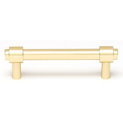 Polished brass 3 inch pull alno inc pulls drawer cabinet for 3 kitchen cabinet handles