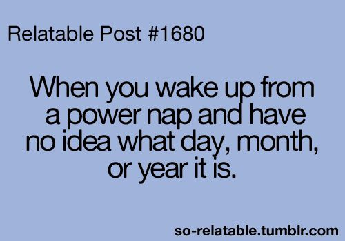 but power naps are so good!