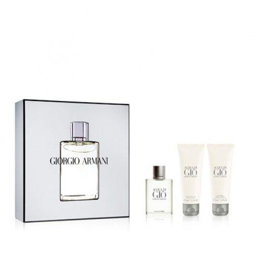Coffret parfum Homme Marionnaud, achat Coffret Acqua Di Gio Eau de Toilette + Gel douche + Baume après-rasage prix promo Marionnaud 80.90 €