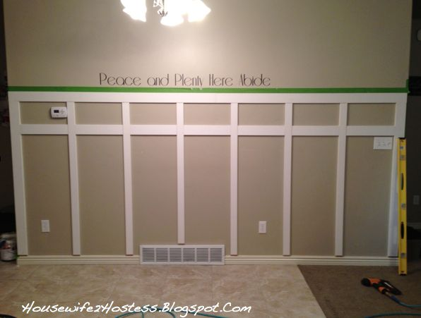 I've seen board and batten everywhere lately and I am loving it! So, I decided to put it on the wall behind my kitchen table, and the results were even better than I imagined! Did I mention I…
