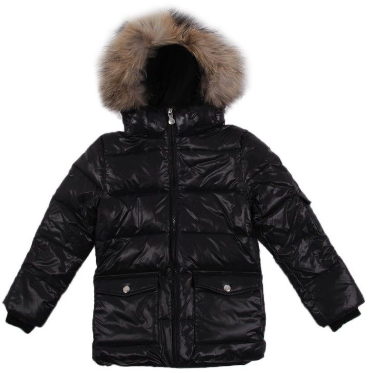 Shiny Authentic fur down jacket