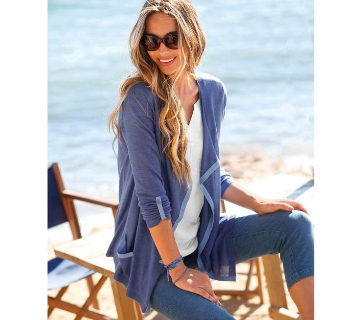 Dvoubarevný svetr s cípy | blancheporte.cz #blancheporte #blancheporteCZ #blancheporte_cz #summer #spring #wear