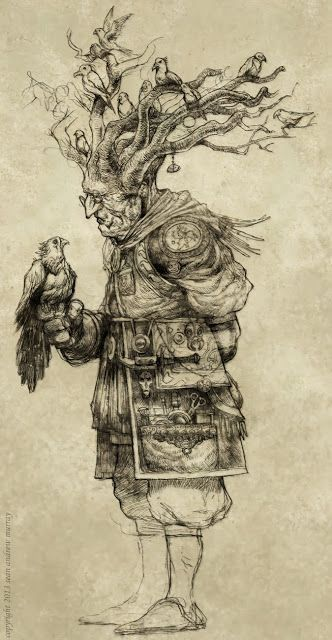 SEANandrewMURRAY'S sketchblog: Kento Vess, the Birdmancer (or Ornitholomancer)