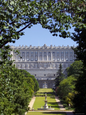 PALACIO REAL, Madrid, Spain - was royal residence until King Alfonso XIII abdicated the throne in 1931.  Today it is used for state business but is open for public viewing.