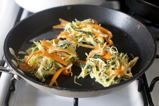 japanese vegetable pancakes: http://smittenkitchen.com/blog/2013/05/japanese-cabbage-and-vegetable-pancakes/
