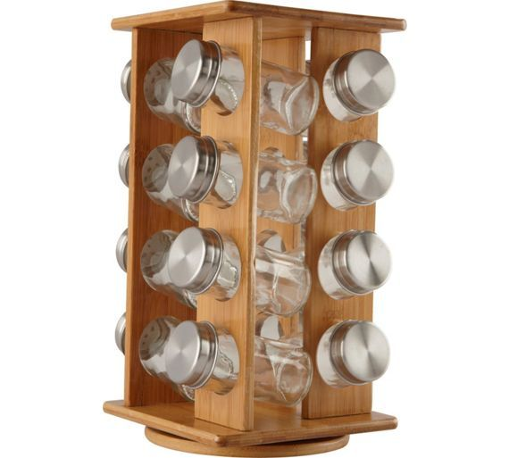 Buy HOME Wooden Revolving Spice Rack at Argos.co.uk - Your Online Shop for Spice racks and seasoning, Kitchenware, Cooking, dining and kitchen equipment, Home and garden.